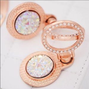 Rose Gold & Rhinestone Cellphone Ring & Stand